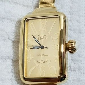 Glam Rock Maimi Beach Art Deco Watch
